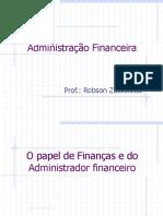 Aula 1 - Gestão Financeira E Analise De Investimentos