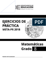 Ejercicios Matematica 8