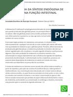 A IMPORTÂNCIA DA SÍNTESE ENDÓGENA DE MELATONINA NA FUNÇÃO INTESTINAL _ Flavia Ramos Nutrição Clínica, esportiva e funcional