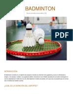 Informe badminton