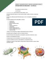 EXAMEN PREPARATORIO DE BIOLOGÍA - LA CÉLULA