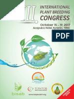 III. International Plant Breeding Congress