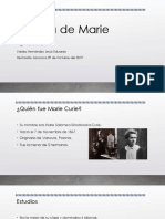 La vida de Marie Curie
