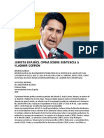 JURISTA ESPAÑOL OPINA SOBRE SENTENCIA A VLADIMIR CERRÓN