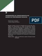 Cerqueira & Oliveira (2014) - Transmissao de conhecimentos no ensino da performance musical