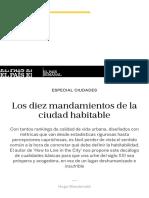 Los diez mandamientos de la ciudad habitable | EL PAÍS Semanal