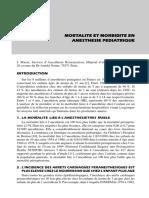 mortalité et morbidité en anesthésie pédiatrique