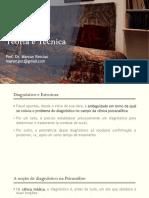 Psicanálise teoria e técnica - Aula 1