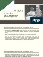 Psicanálise teoria e técnica - Aula 4