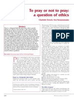 To pray or Not To Pray  A case of Ethics