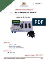 RAPPORT DE PROJERT DE FIN D'ETUDE
