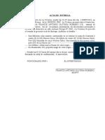 ACTA DE INCAUTACION DE DOCUMENTO