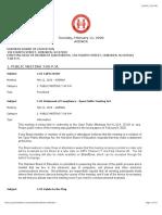 Hoboken BOE Detailed Agenda Feb 2020