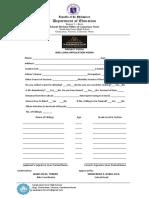 bike application form