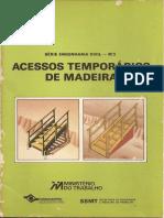 Acessos Temporarios de Madeira