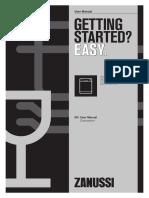 Zanussi ZDF21001WA ZDF21001XA ZDF21001NA dishwasher user manual
