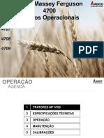 Conceitos Operacionais, Sist. Hidraulicos e Sist. Eletricos MF4700