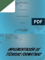 Implementación de técnicas formativas ter333