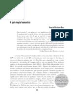 BUYS, Rogerio. A psicologia humanista (História da Psicologia - Rumos e Percursos, Cap. 20)