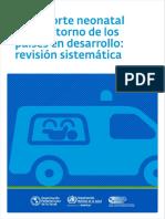 Transporte Neonatal en Paises en Desarrollo - PDF