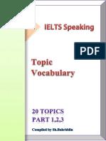 Example of speaking question level 1 IELTS regular exam