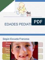 EDADES PEDIATRICAS