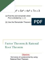 3.3 Rational Root Theorem