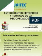 ANTECEDENTES HISTÓRICOS PSICOPEDAGOGIA