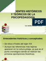 antecedentes historicos psicopedagogia