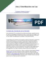 La Desinfección y Esterilización con Luz Ultravioleta