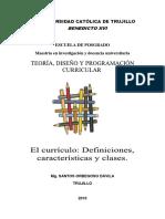 TEORÍA, DISEÑO Y PROGRAMACIÓN CURRICULAR 1