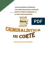 guia III corte criminalistica