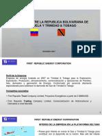 PRESENTACION PROYECTO ENTRE TRINIDAD Y TOBAGO