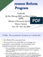 Cambodia Public Procurement System