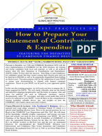 Flyer - How To Prepare Your                                           Statement of Contributions and          Expenditures              (SOCE4)