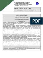plano de ensino anual 7. ano - e.f. ii - 2018