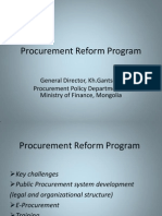 Mongolia Procurement Reform Program