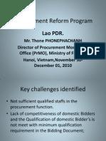Lao PDR-ProcurementReform
