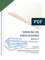 MÓDULO I - DERECHO DE OBLIGACIONES 2015