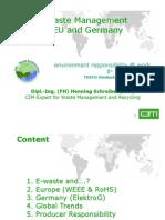E Waste Management in EU Germany by Henning Schreiber (VDI) CIM Short II 08-08-07
