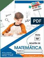 CUADERNILLO DE MATEMÁTICA PARA QUINTO Y SEXTO GRADO