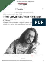 Héctor Cast el ska al estilo colombiano