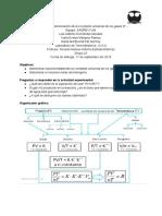 Determinación de la constante universal de los gases R-