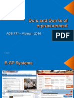 E-GP Do's and Don'Ts