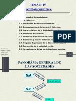 SOCIEDAD COLECTIVA Y SOCIEDAD ANONIMA. tema IV