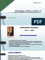 ASPECTOS INSTITUCIONALES, JURÍDICOS Y POLÍTICOS DE LOS GOBIERNOS POSTERIORES A LA CONSTITUCIÓN DE 1917