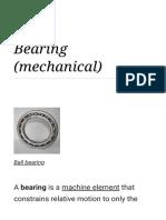 Bearing (mechanical) - Wikipedia