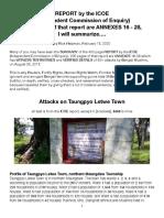 ICOE-Taungpyo Letwe Attacks, Summarized Copy