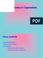 Group Dynamics in Organizations
