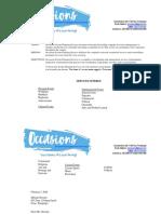 Events Management Services NCIII - Sample